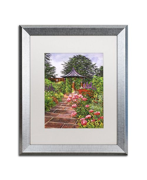 "Trademark Global David Lloyd Glover 'Carrington Garden' Matted Framed Art - 16"" x 20"""