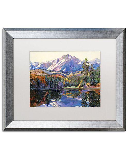 "Trademark Global David Lloyd Glover 'Painter's Lake' Matted Framed Art - 16"" x 20"""