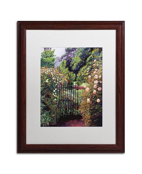 "Trademark Global David Lloyd Glover 'Quiet Garden Entrance' Matted Framed Art - 16"" x 20"""