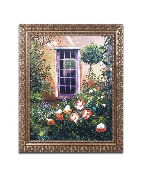 "Trademark Global David Lloyd Glover 'Tuscany Villa Garden' Ornate Framed Art - 16"" x 20"""