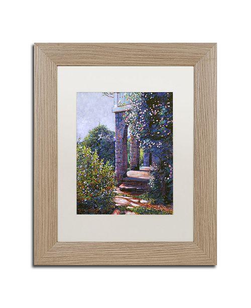 "Trademark Global David Lloyd Glover 'Climbing Roses' Matted Framed Art - 11"" x 14"""
