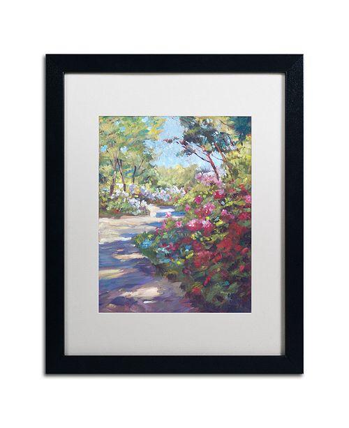 "Trademark Global David Lloyd Glover 'Arboretum Garden Path' Matted Framed Art - 16"" x 20"""