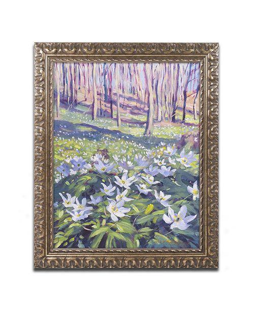 "Trademark Global David Lloyd Glover 'Anemones in the Meadow' Ornate Framed Art - 16"" x 20"""