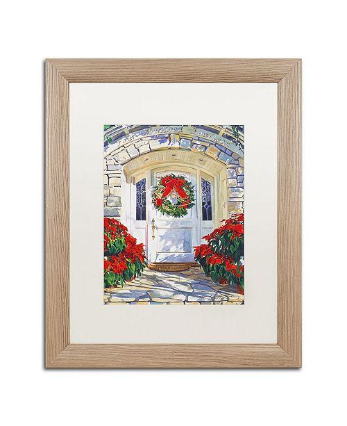 "Trademark Global David Lloyd Glover 'Poinsettia House' Matted Framed Art - 16"" x 20"""