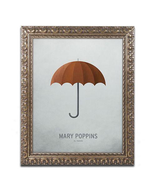 """Trademark Global Christian Jackson 'Mary Poppins' Ornate Framed Art - 16"""" x 20"""""""