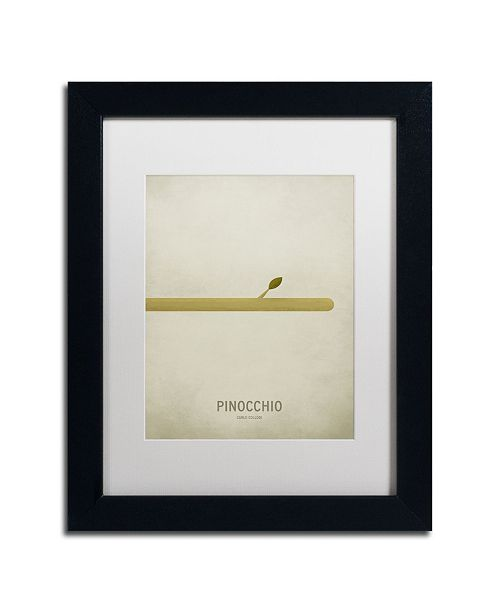 "Trademark Global Christian Jackson 'Pinocchio' Matted Framed Art - 11"" x 14"""