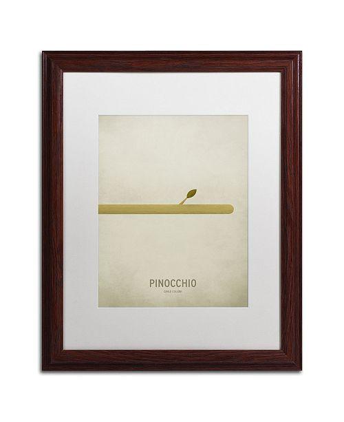 "Trademark Global Christian Jackson 'Pinocchio' Matted Framed Art - 16"" x 20"""