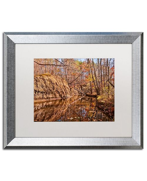 "Trademark Global Jason Shaffer 'Beaver Creek 6' Matted Framed Art - 20"" x 16"""