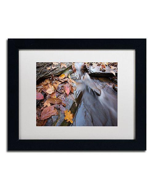 """Trademark Global Jason Shaffer 'Chance Creek 1' Matted Framed Art - 14"""" x 11"""""""