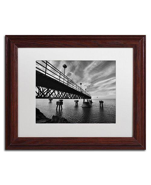 "Trademark Global Jason Shaffer 'Edgewater' Matted Framed Art - 14"" x 11"""