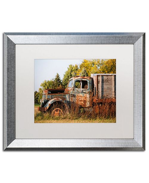 "Trademark Global Jason Shaffer 'Findlay Truck' Matted Framed Art - 20"" x 16"""