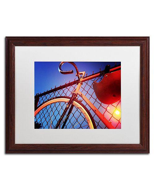 "Trademark Global Jason Shaffer 'Fixie' Matted Framed Art - 20"" x 16"""