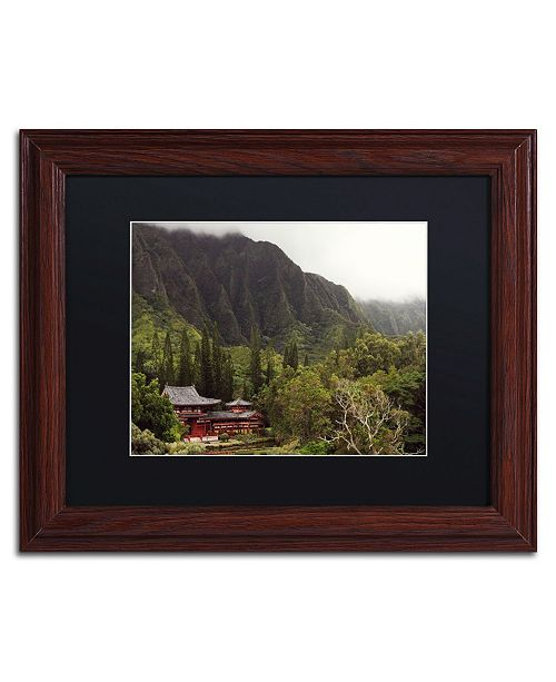 """Trademark Global Jason Shaffer 'Hawaii' Matted Framed Art - 14"""" x 11"""""""