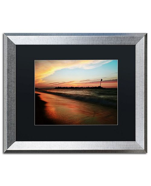 "Trademark Global Jason Shaffer 'Lakeview Sunset' Matted Framed Art - 20"" x 16"""
