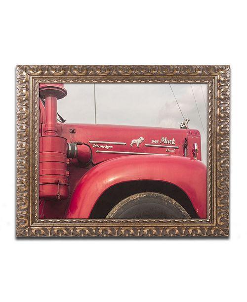 """Trademark Global Jason Shaffer 'Mack Truck' Ornate Framed Art - 20"""" x 16"""""""