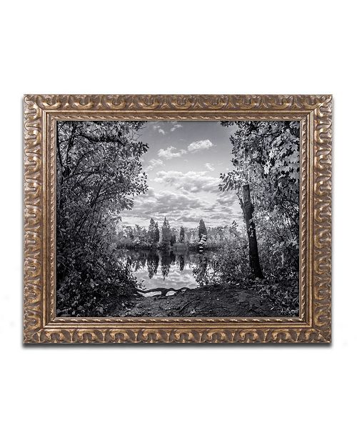 "Trademark Global Jason Shaffer 'Morgan Street 3' Ornate Framed Art - 14"" x 11"""
