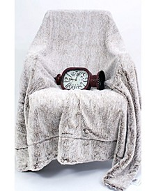 Luxury Faux Fur Fleece Throw Blanket