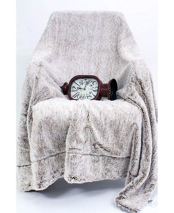 Ac Pacific Luxury Faux Fur Fleece Throw Blanket