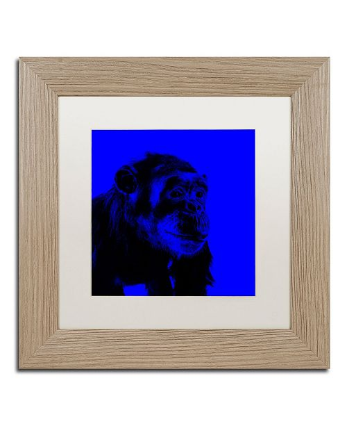 "Trademark Global Claire Doherty 'Chimp No 1' Matted Framed Art - 11"" x 11"""