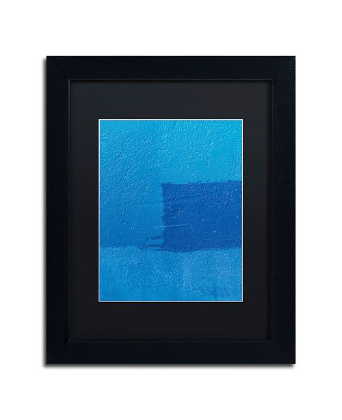 """Trademark Global Claire Doherty 'Abstract Blue' Matted Framed Art - 11"""" x 14"""""""