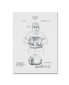 "Claire Doherty 'Baseball Glove Patent 1905 White' Canvas Art - 18"" x 24"""