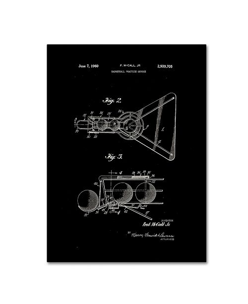 """Trademark Global Claire Doherty 'Practice Device Patent 1960 Part 2 Black' Canvas Art - 18"""" x 24"""""""