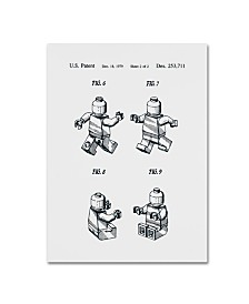 """Claire Doherty 'Lego Man Patent 1979 Page 2 White' Canvas Art - 14"""" x 19"""""""
