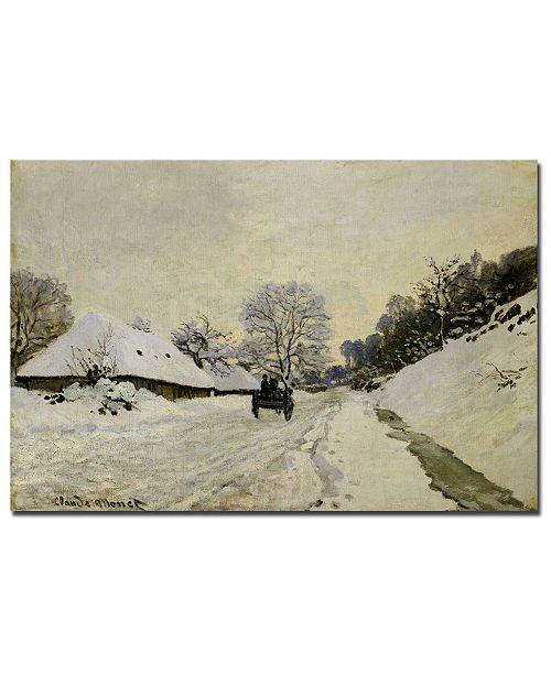 """Trademark Global Claude Monet 'The Cart 1865' Canvas Art - 47"""" x 30"""""""