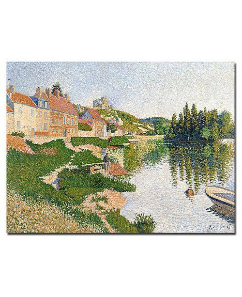 "Trademark Global Paul Signac 'River Bank, Petit-Andely, 1886' Canvas Art - 32"" x 26"""