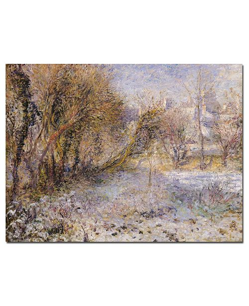 "Trademark Global Pierre Auguste Renoir' Snowy Landscape' Canvas Art - 32"" x 24"""