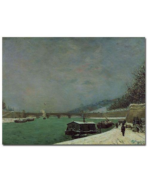 "Trademark Global Paul Gauguin 'The Seine at Pont d'lena, Winter' Canvas Art - 47"" x 35"""