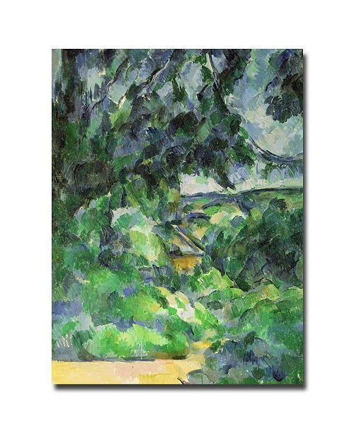 "Trademark Global Paul Cezanne 'Blue Landscape, 1903' Canvas Art - 32"" x 26"""