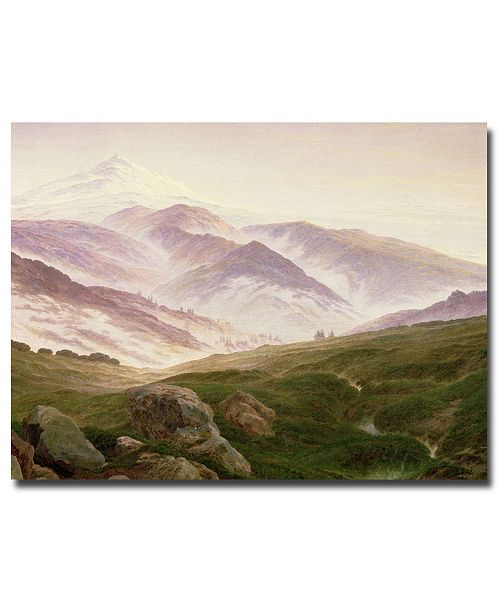"Trademark Global Caspar Friedrich 'The Mountains of the Giants, 1839' Canvas Art - 47"" x 35"""