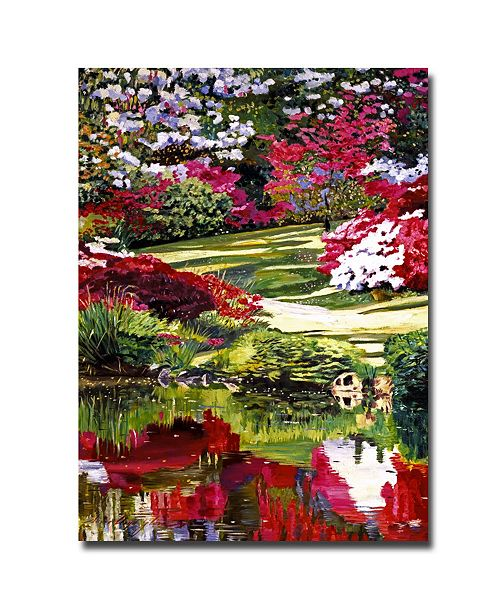 "Trademark Global David Lloyd Glover 'Rhododendron Reflections' Canvas Art - 24"" x 16"""