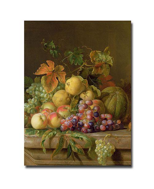 """Trademark Global Jacob Bogdany 'A Fruit Still Life' Canvas Art - 24"""" x 18"""""""