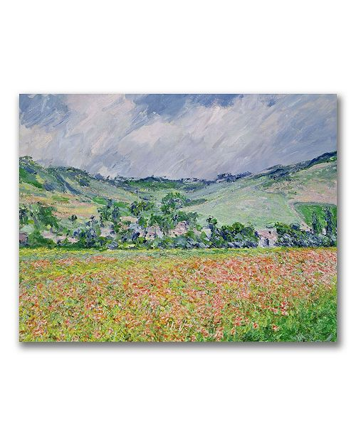 "Trademark Global Claude Monet 'THe Poppy Field near Giverny' Canvas Art - 47"" x 30"""