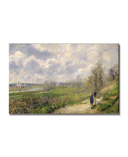 "Trademark Global Camille Pissarro 'La Sente du Chou' Canvas Art - 47"" x 30"""