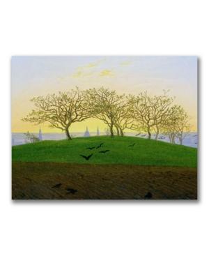 Caspar Friedrich Hills and Ploughed Fields Canvas Art - 32 x 24