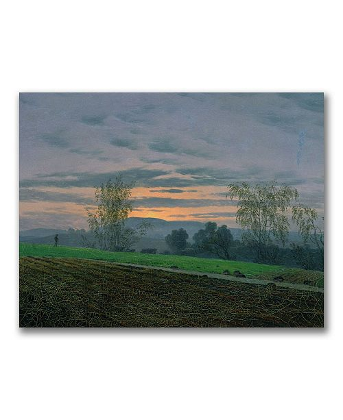 """Trademark Global Caspar Friedrich 'Ploughed Field' Canvas Art - 24"""" x 18"""""""