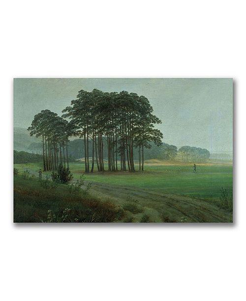 "Trademark Global Caspar Friedrich 'Midday 1820-25' Canvas Art - 24"" x 16"""