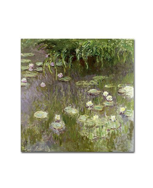 "Trademark Global Claude Monet 'Waterlilies at Midday' Canvas Art - 14"" x 14"""