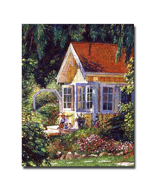 "Trademark Global David Lloyd Glover 'Artist's Summer Cottage' Canvas Art - 24"" x 18"""