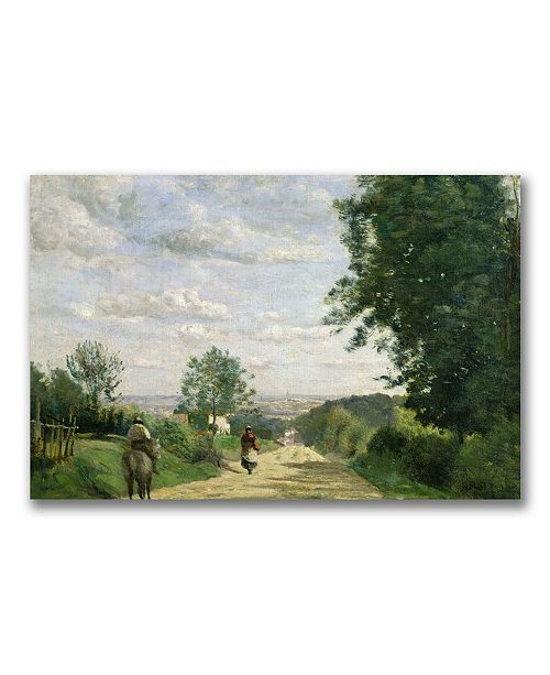 """Trademark Global Jean Baptiste Corot 'The Road to Sevres' Canvas Art - 24"""" x 16"""""""