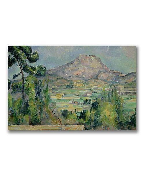 "Trademark Global Paul Cezanne 'Montagne Sainte-Victoire III' Canvas Art - 32"" x 22"""