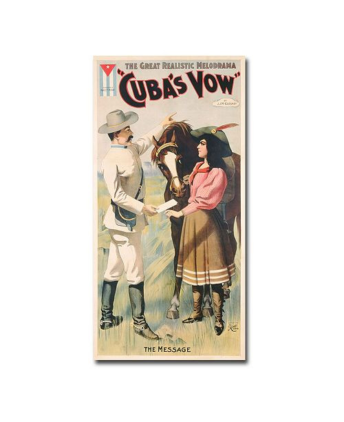 "Trademark Global Cuban Vow 1897' Canvas Art - 47"" x 24"""