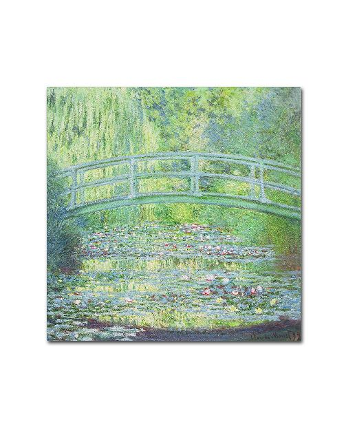 "Trademark Global Claude Monet 'Waterlily Pond-The Bridge II' Canvas Art - 14"" x 14"""