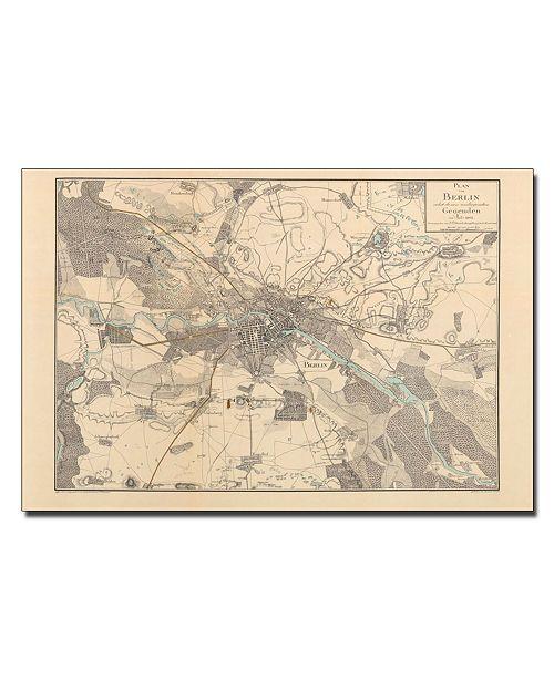 """Trademark Global Schneider 'Map of Berlin 1802' Canvas Art - 32"""" x 22"""""""
