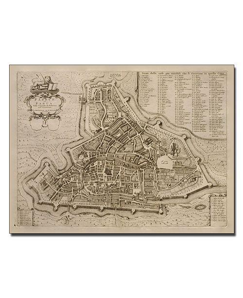 "Trademark Global Pierre Mortier 'Map of Padua 1704' Canvas Art - 32"" x 26"""
