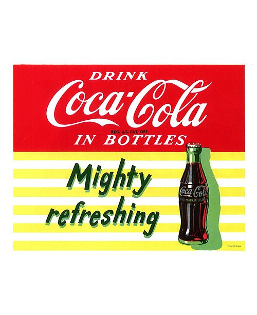 "Trademark Global 'Mighty Refreshing' Canvas Art - 36"" x 24"""