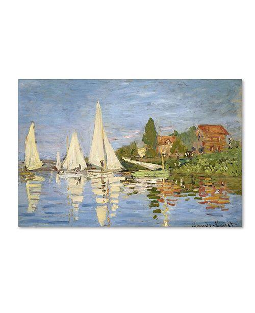 """Trademark Global Claude Monet 'Regatta at Argenteuil' Canvas Art - 14"""" x 19"""""""